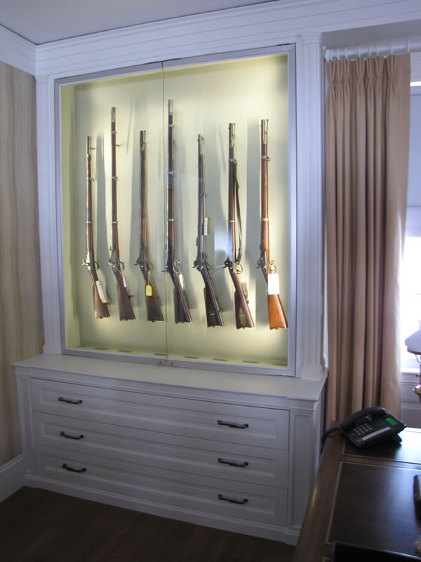 Ordinaire Display Case For Civil War Era Gun Collection With Details And Moldings To  Match Early 20th Century Interior. Design By Scott Tulay Of Juster Pope  Frazier ...