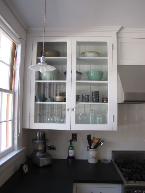 Kitchen Corner Wall Cabinet With Glass Doors